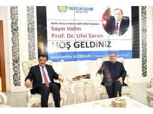Kamu Araştırmaları Vakfı Başkanı  Saran'dan Başkan Gürkan'a ziyaret