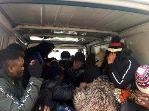 Balıkesir'de 31 düzensiz göçmen yakalandı