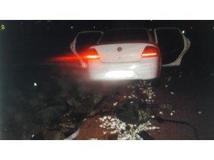 Kaçak göçmenleri taşıyan araç kaza yaptı: 2 yaralı