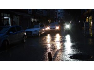 İslahiye'de sabah saatlerinde akşam karanlığı