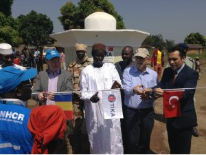 TİKA'dan Çad'da Gore Mülteci Kampına su desteği