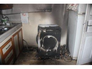 Çamaşır makinesinden yangın çıktı