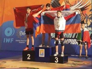 Vanlı halterci Avrupa ikincisi oldu