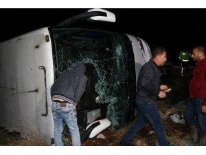 Erzincan'da yolcu otobüsü şarampole uçtu: 20 yaralı