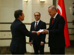 Cumhurbaşkanı Erdoğan, Belarus Büyükelçisini kabul etti
