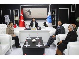 """YEDAM'dan Rektör Karacoşkun'a """"bağımlılık"""" ziyareti"""