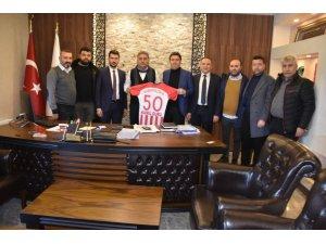 Nevşehir Belediyespor Başkan ve yöneticileri, Genel Sekreter Duru'yu ziyaret etti