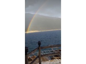 Antalya'da yağmur sonrası gökkuşağı