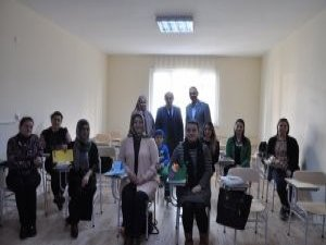 İlçe Milli Eğitim Müdürü Demir'den Halk Eğitim Merkezi ek binasına ziyaret