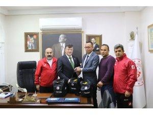 Spor Müsabakaları Sağlıkçılar Derneği'nden Fillikçioğlu'na ziyaret