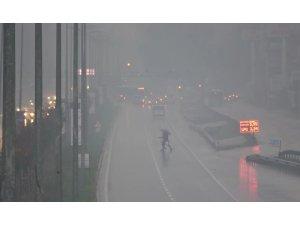 Hatay yoğun sis altında