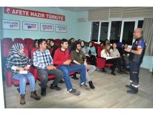MEKUT üyelerine AFAD gönüllülük sistemi tanıtıldı