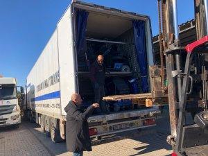 Hollanda'dan gelen 145 engelli aracı Havran'a ulaştı