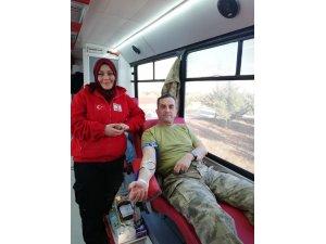 Jandarma personeli kan bağında bulundu