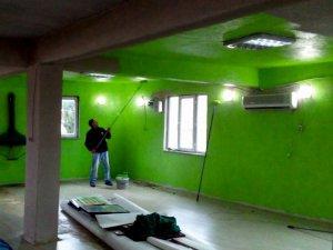 Altıeylül'de kapalı pazaryeri inşaatı devam ediyor