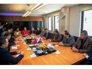 Rus iş adamlarından Ahmet Aras'a ziyaret