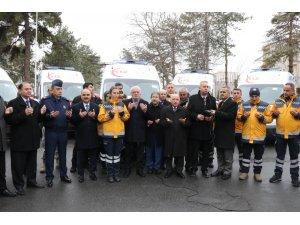 Sağlık Bakanlığı'nın Kayseri'ye Tahsis Ettiği 5 Ambulans İl Sağlık Müdürlüğü'ne Teslim Edildi