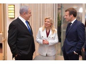 Fransa Cumhurbaşkanı Macron, İsrail Başbakanı Netanyahu ile görüştü