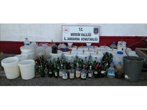 Mersin'de 465 litre sahte içki ele geçirildi