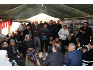 AK Parti'li Yavuz, Kızılcaköy'de jeotermal eylemcilerini nöbet çadırında ziyaret etti