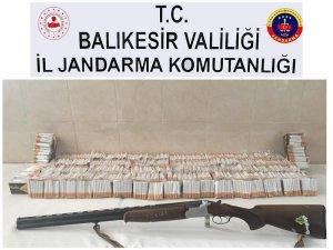 Balıkesir'de kaçak sigara satan şahıs yakalandı