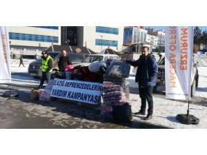 Erzurumlu besici depremzedeler için koyun bağışında bulundu