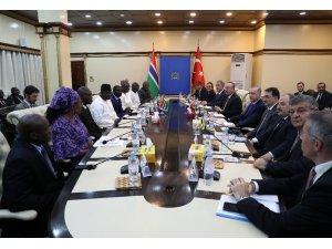 Cumhurbaşkanı Erdoğan, Gambiya'da heyetler arası görüşme gerçekleştirdi