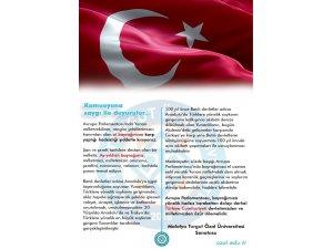 """Turgut Özal Üniversitesi Senatosu'ndan """"Bayrak ve Kudüs"""" kararları"""