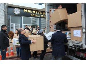 Malatya Barosu'ndan deprem bölgesine 2 tır yardım