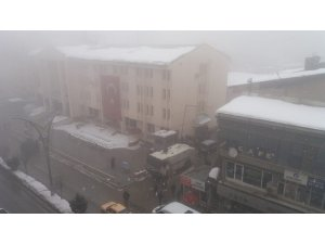 Hakkari'de yoğun sis