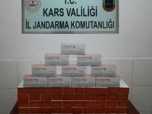 Kars'ta 30 bin lira değerinde kaçak sigara ele geçirildi