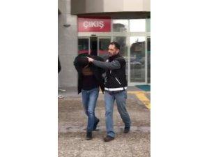 Kesinleşmiş hapis cezası bulunan uyuşturucu taciri polis sorgusunda yakalandı