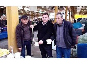 Havran'da pazarcılara sabah çorbası ikram edildi