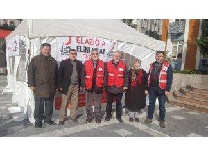 Devrek'te Elazığ için yardım çadırı kuruldu