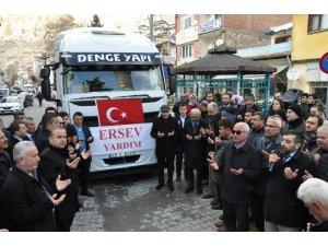 Karaman'dan Elazığ'a 9'ncu yardım tırı da yola çıktı