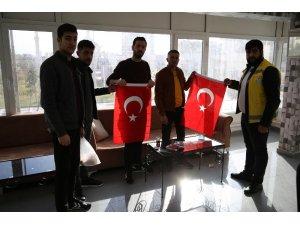 Haliliye'den Türk bayrağına yapılan saldırıya tepki