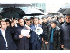 Siirt'te vatandaşlar Kudüs için toplandı