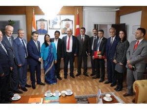 SANKON'dan Hindistan Büyükelçiliği'ne ziyaret