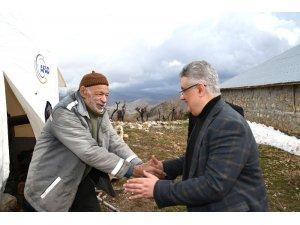 Vali Aykut Pekmez, Gerger ilçesinde incelemelerde bulundu