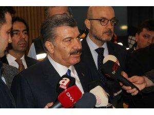 Sağlık Bakanı Koca'dan korona virüsle ilgili İstanbul Havalimanı'nda açıklama