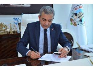 Başkan Kaplan, güneş enerjisi santrali için imzayı attı
