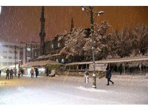 Ağrı'da kar yağışı sürüyor