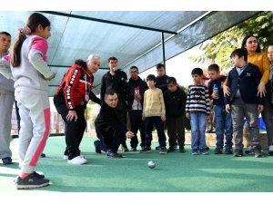 Mersin'de özel çocuklar için bocce etkinliği düzenlendi