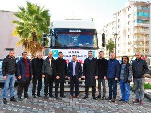 İYİ Parti Manisa'dan Elazığ'a yardım tırı