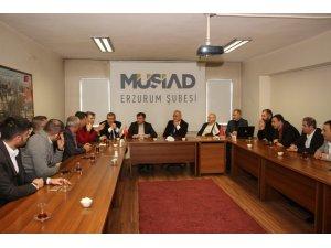 MÜSİAD Rektör Çomaklı ve üniversite yönetimini ağırladı
