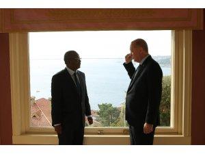 Cumhurbaşkanı Erdoğan, Gine Bissau Seçilmiş Cumhurbaşkanı Cissoko Embalo'yu Vahdettin Köşkü'nde ağırladı