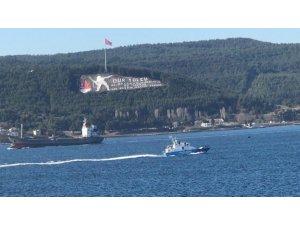 Bulgar sahil güvenlik botu Çanakkale Boğazı'ndan geçti