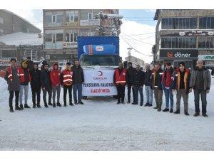 Türk Kızılayı Yüksekova Şubesi'nden Elazığ'a yardım gönderildi