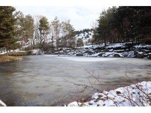 Kar yağışıyla Kırşehir'de kartpostallık görüntüler oluştu