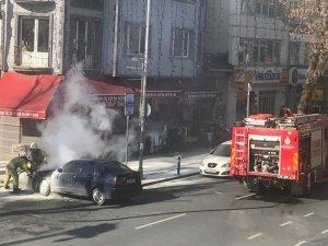 Sarıyer'de araç yangını